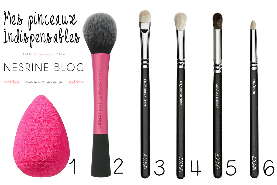 Mes pinceaux indispensables article blog zoeva real techniques beautyblender
